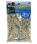 Pride PTS 3 1/4'' Natural Golf Tees - 75 Pack