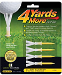 Green Keepers 4YardsMore 2 3/4'' Yellow Golf Tees - 4 Pack
