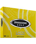 Bridgestone Women's Lady Precept Optic Yellow Golf Balls - 12 Pack