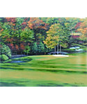 "Golf Gifts & Gallery Unframed Canvas Print of Augusta National #11 (15"" x 17"")"