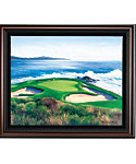 "Golf Gifts & Gallery Framed Canvas Print of Pebble Beach #7 (30"" x 36"")"
