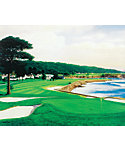 "Golf Gifts & Gallery Unframed Canvas Print of Pebble Beach #18 (15"" x 17"")"