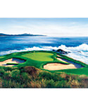 "Golf Gifts & Gallery Unframed Canvas Print of Pebble Beach #7 (23"" x 29"")"