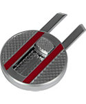 Maxfli 2-in-1 Divot Tool and Ball Marker - Silver/Red