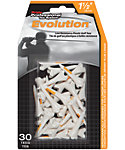 Pride PTS Evolution 1 1/2'' White Golf Tees - 30 Pack