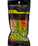 Maxfli 2 3/4'' Assorted Golf Tees - 100 Pack