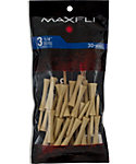 Maxfli 3 1/4'' Natural Golf Tees - 30 Pack