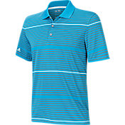 adidas Men's climacool Classic Stripe Golf Polo
