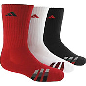 adidas Kids' Striped Crew Socks 3 Pack