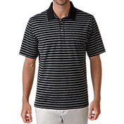 Ashworth Men's Slub Heather Stripe Golf Polo