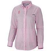 Columbia Women's Tested Tough in Pink Tamiami Long Sleeve Shirt