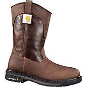 """Carhartt Men's 11"""" Square Toe Wellington Steel Toe Waterproof Work Boots"""