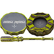 DUEL Game Calls Double Trouble Pot Turkey Call - Green
