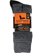 Field & Stream Long Trail Crew Socks 4 Pack