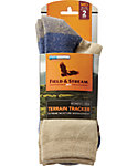 Field & Stream Women's Terrain Tracker Crew Hiking Socks - 2-Pack