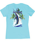 Guy Harvey Women's Palm Tree Splash T-Shirt