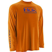 Huk Men's Performance Logo Raglan Long Sleeve Shirt
