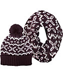 Igloos Women's Fair Isle Hat and Scarf Set