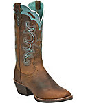 Justin Women's Rugged Buffalo Silver Collection Western Boots
