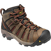 KEEN Men's Flint Mid Hiker Steel Toe Work Boots