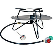 King Kooker Heavy Duty Jet Burner Outdoor Cooker Package with Round Bar Legs