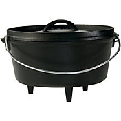 Lodge Cast Iron 5 Quart Camp Dutch Oven