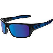 blue and orange oakley sunglasses  product image oakley turbine sunglasses