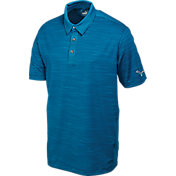 Puma Men's Heather Stripe Golf Polo