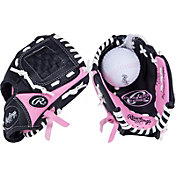"Rawlings 8.5"" Girls' T-Ball Player's Series Glove w/ Ball"