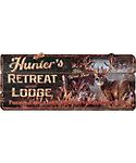 Rivers Edge Hunters Retreat Lodge Sign