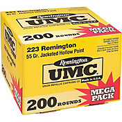 Remington UMC .223 JHP Rifle Ammunition 200 Round Pack – 55 Grain