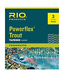 RIO Powerflex 7.5 ft. Trout Leader  - 3 Pack
