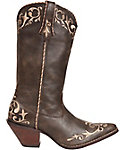 Rocky Women's Chocolate Scroll Western Boots