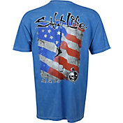 Salt Life Men's Hook Line and Sinker Mineral Wash T-Shirt