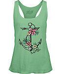 The Salt Life Women's Tropical Anchor Racerback Tank Top