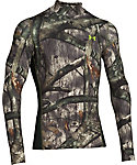 Under Armour Men's ColdGear Scent Control Mock Neck Base Layer Shirt