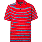 Walter Hagen Men's USA Heather Stripe Golf Polo