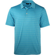 Walter Hagen Men's Velocity Heather Pop Stripe Golf Polo