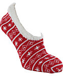 Yaktrax Women's Cozy Nordic Slipper Cabin Socks
