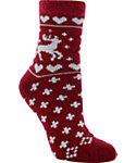 Yaktrax Women's Cozy Deer Crew Cabin Socks