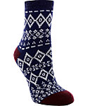Yaktrax Women's Cozy Diamond Nordic Cabin Socks