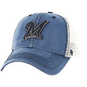 '47 Men's Milwaukee Brewers Rockford Closer Navy/White Fitted Hat
