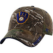 '47 Men's Milwaukee Brewers Realtree Camo Adjustable Hat