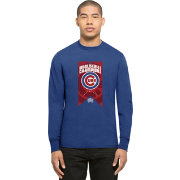 '47 Men's 2016 World Series Champions Chicago Cubs Royal Flanker Long Sleeve Shirt