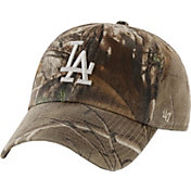 '47 Men's Los Angeles Dodgers Realtree Camo Clean Up Adjustable Hat
