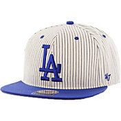 '47 Men's Los Angeles Dodgers Woodside Captain Pinstripe Adjustable Hat