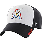 '47 Men's Miami Marlins Beta MVP Black Adjustable Hat