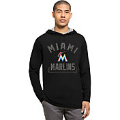 '47 Men's Miami Marlins Black Downfield Long Sleeve Shirt