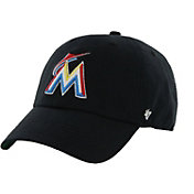 '47 Men's Miami Marlins Franchise Black Fitted Hat