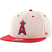 '47 Men's Los Angeles Angels Woodside Captain Pinstripe Adjustable Hat